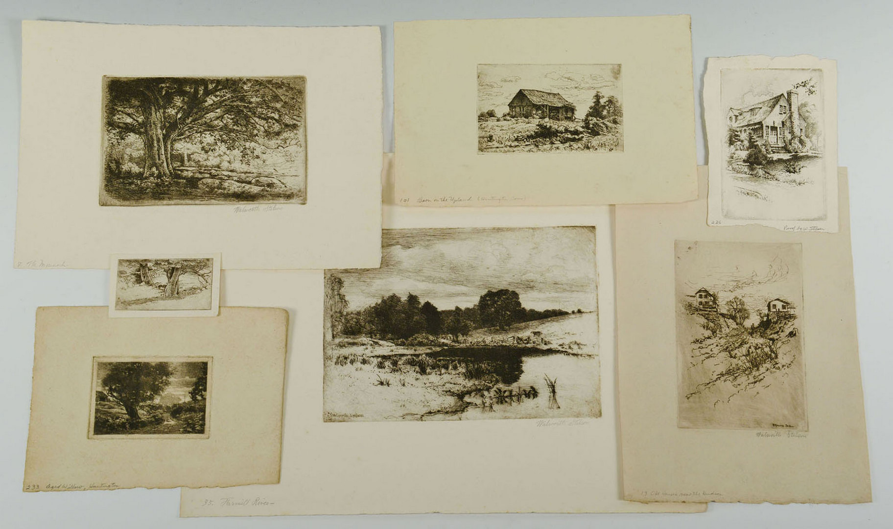 Lot 629: Walworth Stilson, 7 New England Etchings