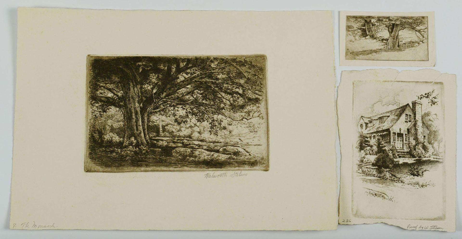 Lot 629: Walworth Stilson, 7 New England Etchings