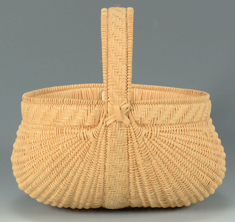 Lot 630: Contemporary TN Split Oak Basket, Betty Tanner