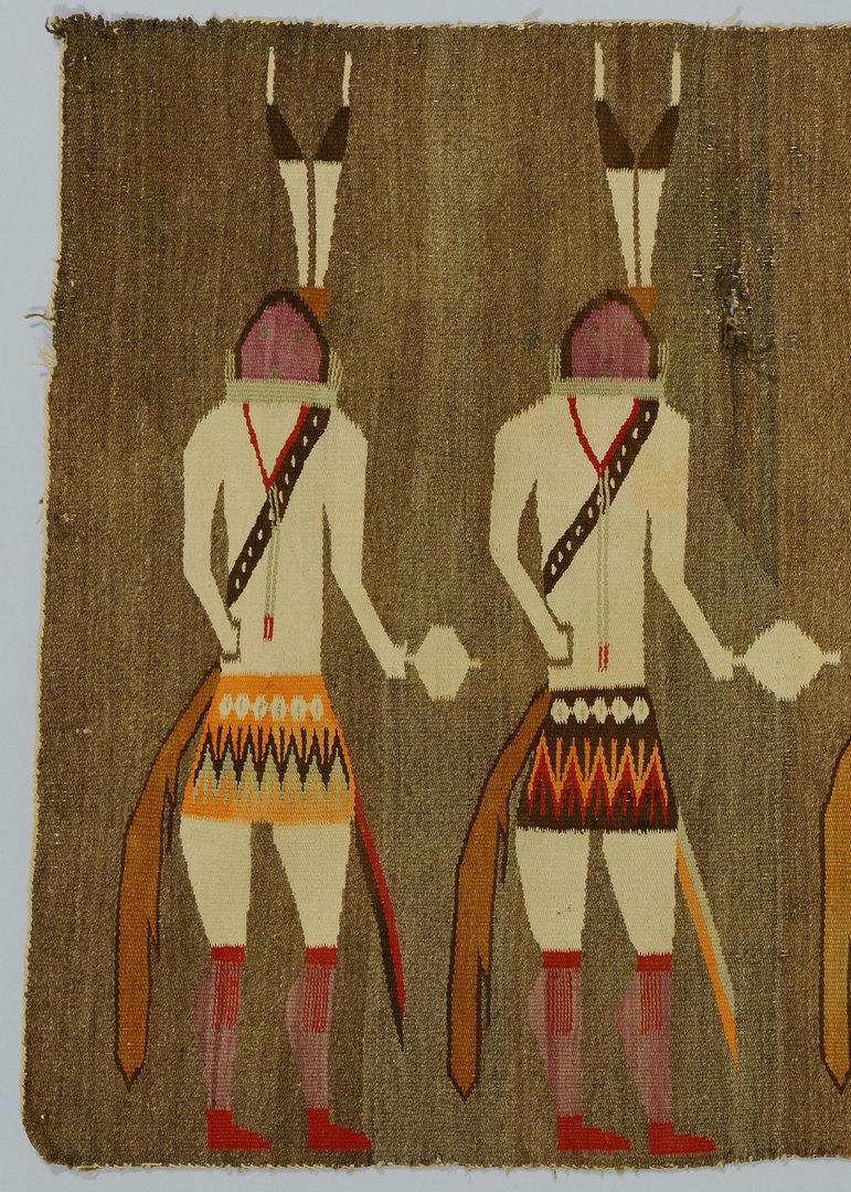 """Lot 633: Navajo Ye'ii Pictoral Rug, 55"""" x 35"""""""