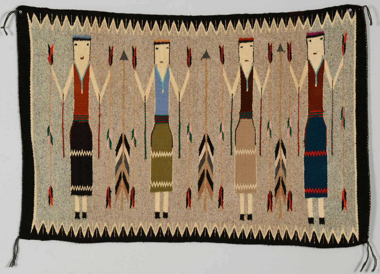Lot 635: Navajo Four Figure Yei Rug