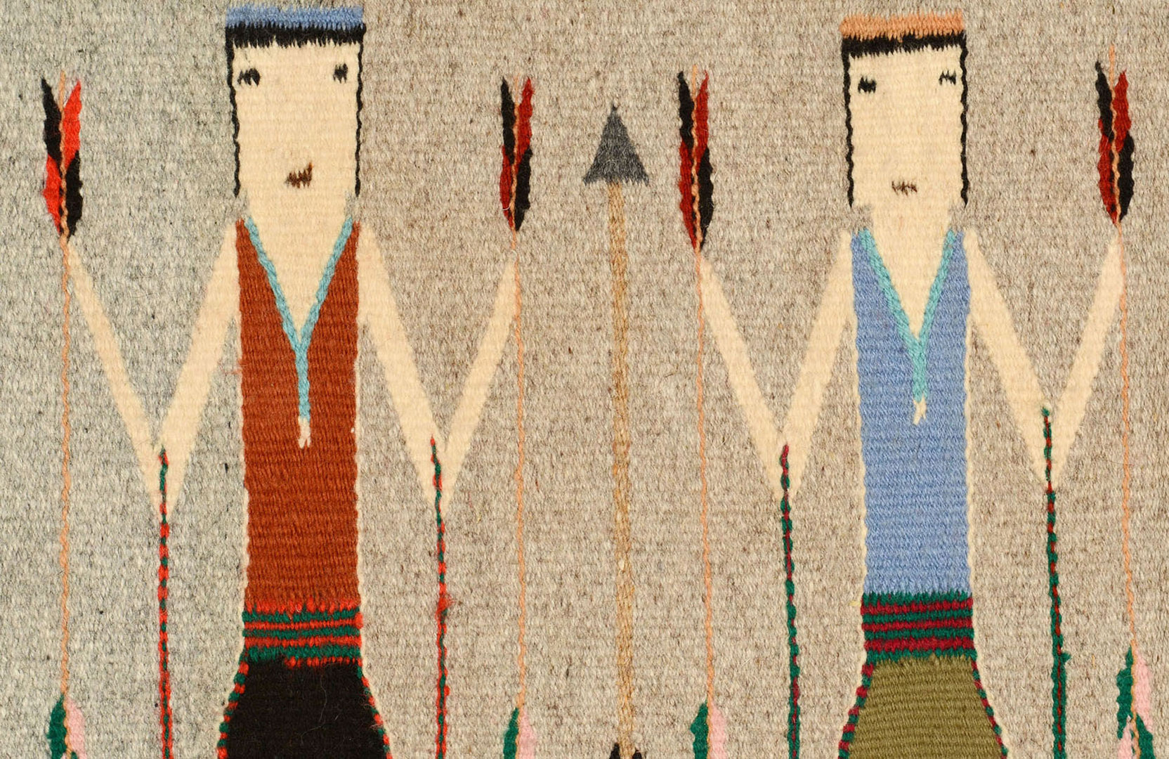Lot 635: Navajo Four Figure Yei Rug