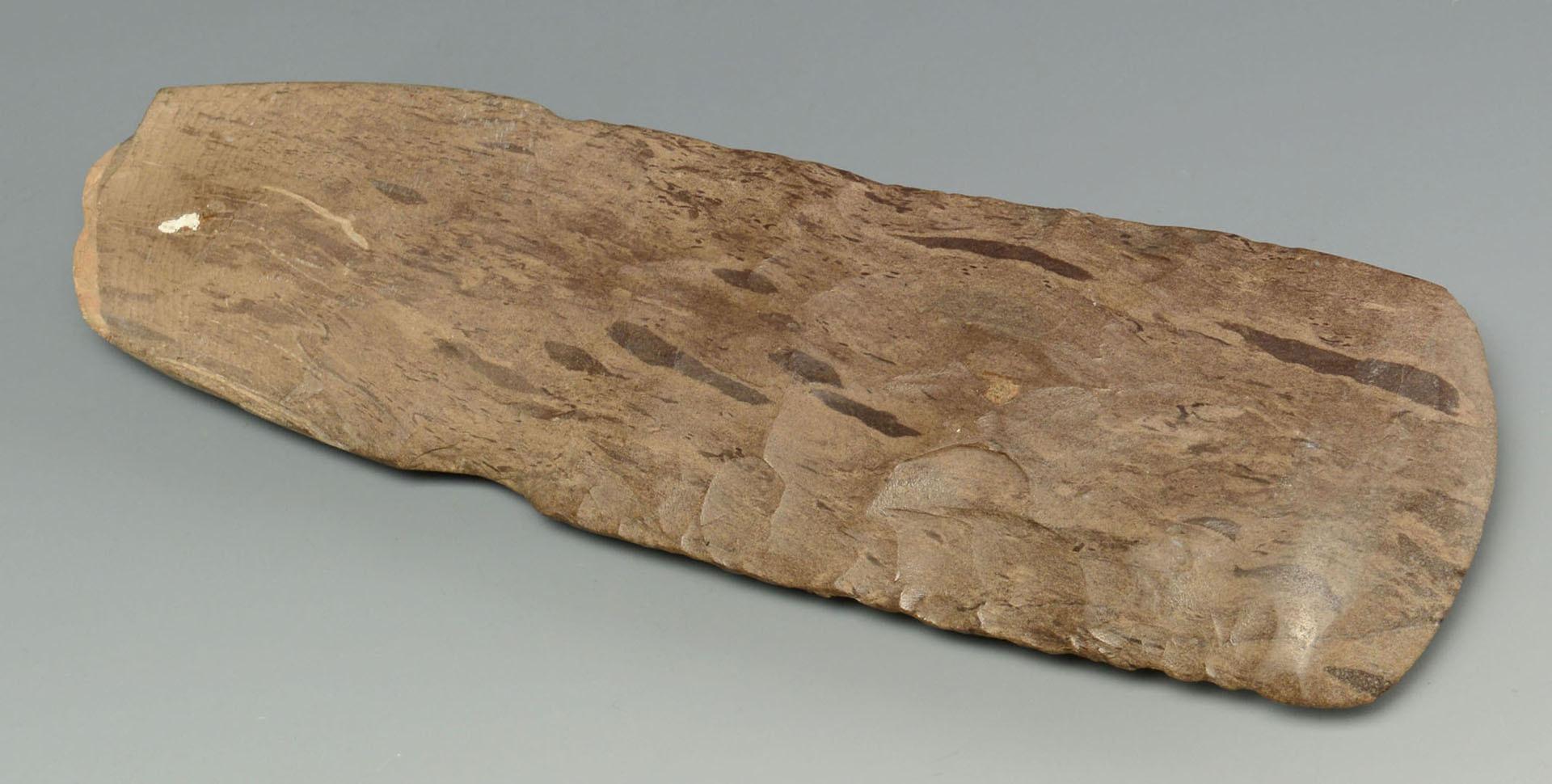 Lot 636: 2 Dover flint celts and 1 spatulate celt, TN