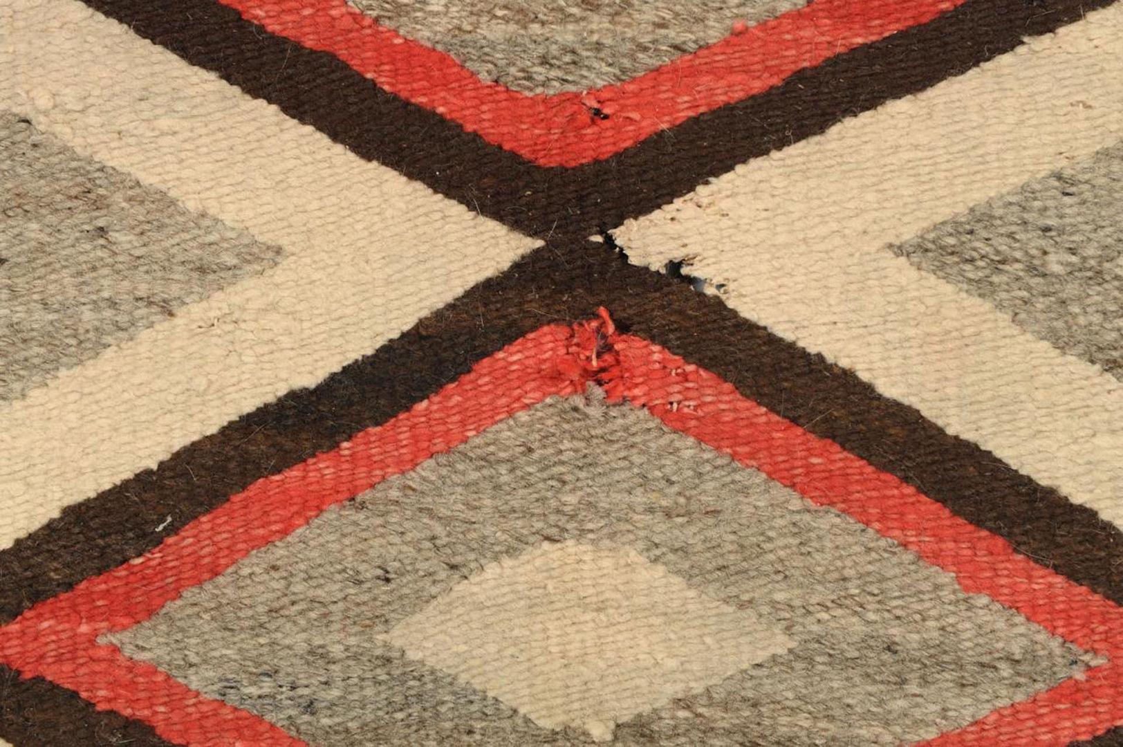 Lot 638: Navajo Blanket with Diamond Design