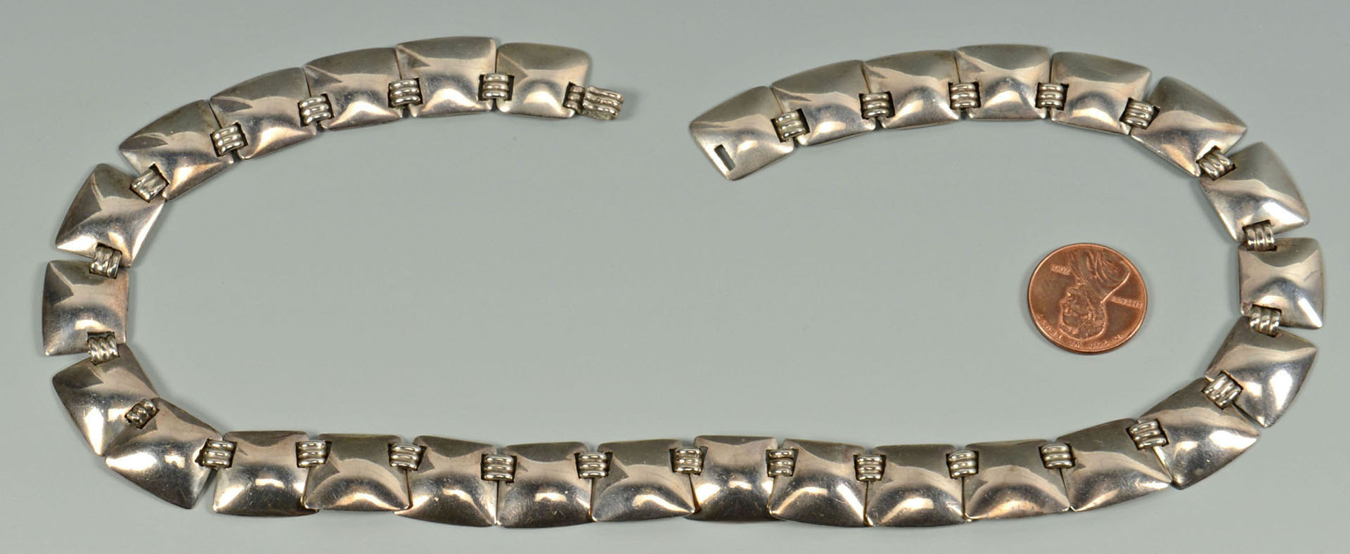 Lot 63: Fred Davis Silver Necklace