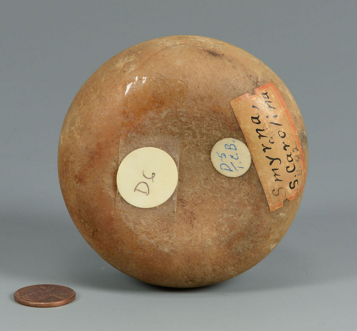 Lot 642: Mississippian Quartz Biscuit Discoidal