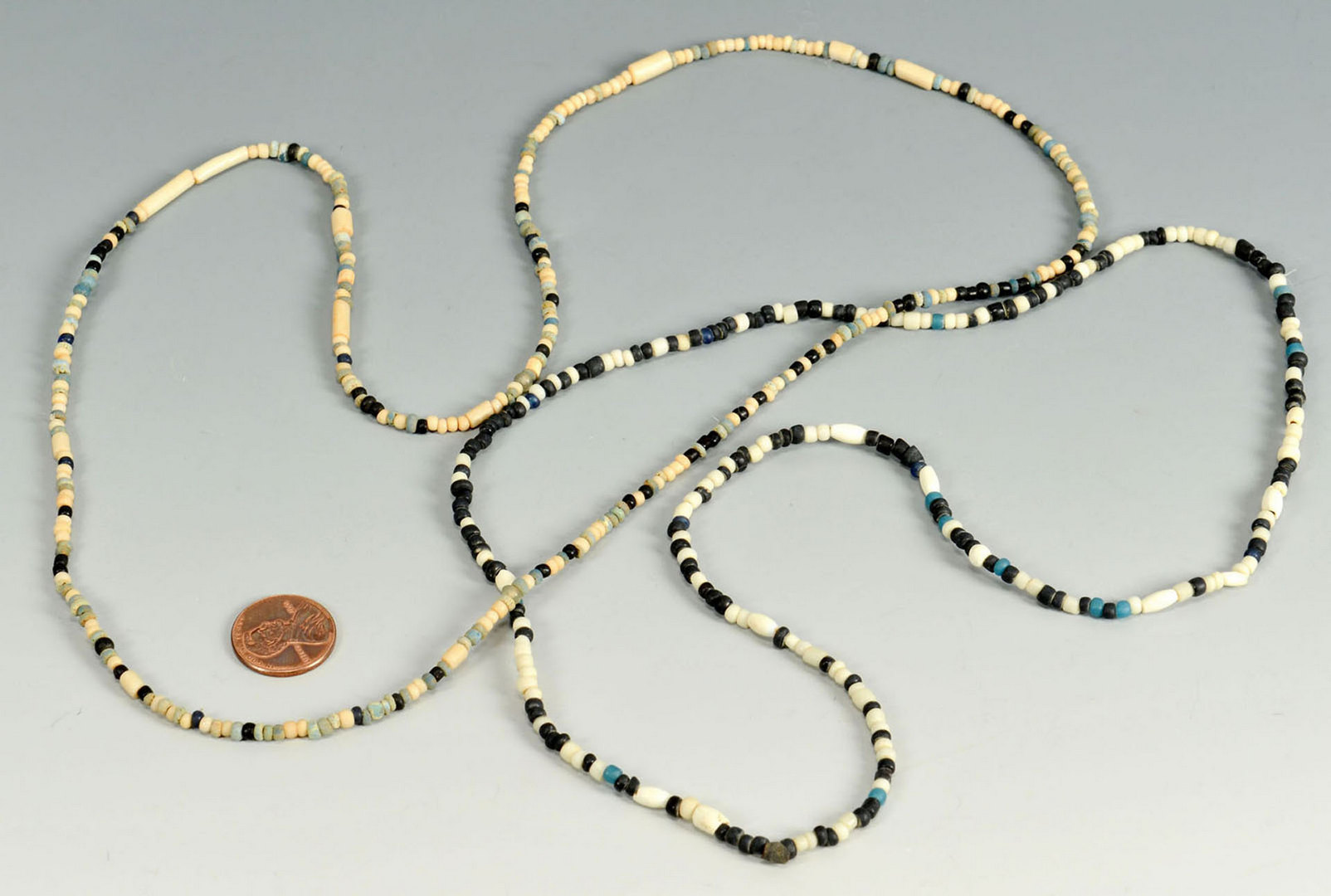 Lot 646: Pair of Native American Strands of Beads