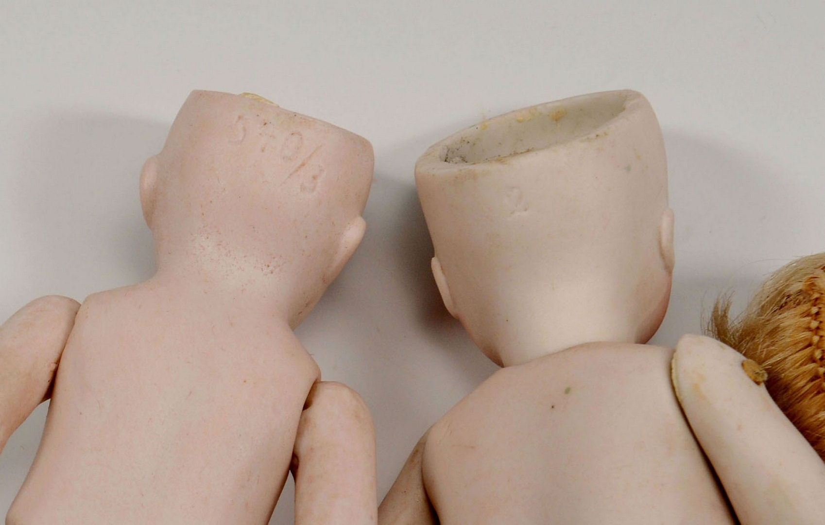 Lot 655: 5 All-Bisque Dolls, mignonette style
