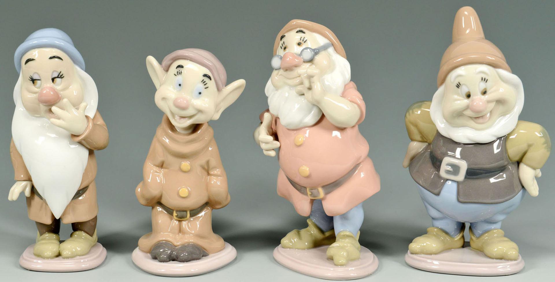 Lot 657: Lladro Disney Snow White and Seven Dwarfs