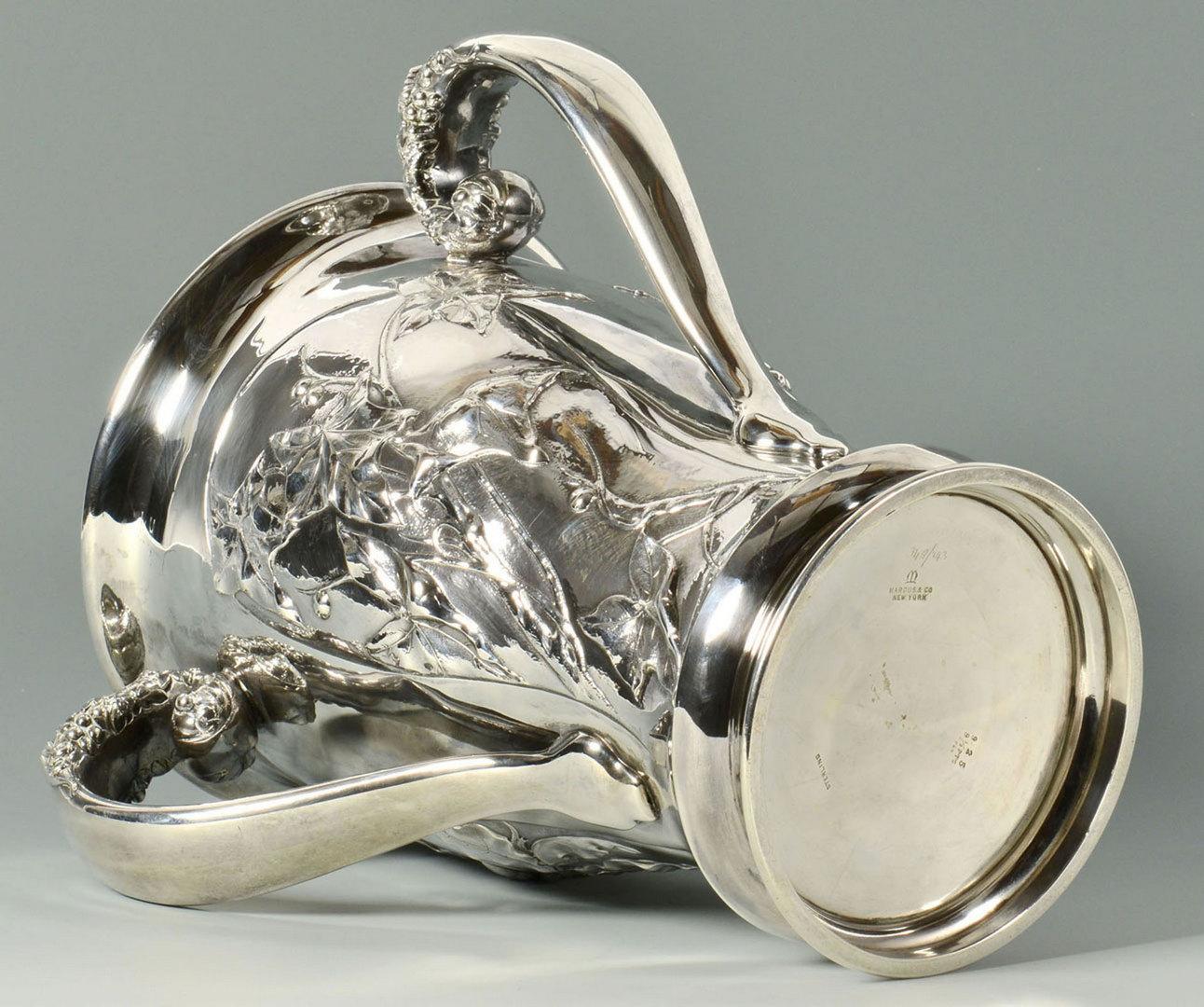 Lot 65: Art Nouveau Sterling Presentation Cup, 70.6 oz tro