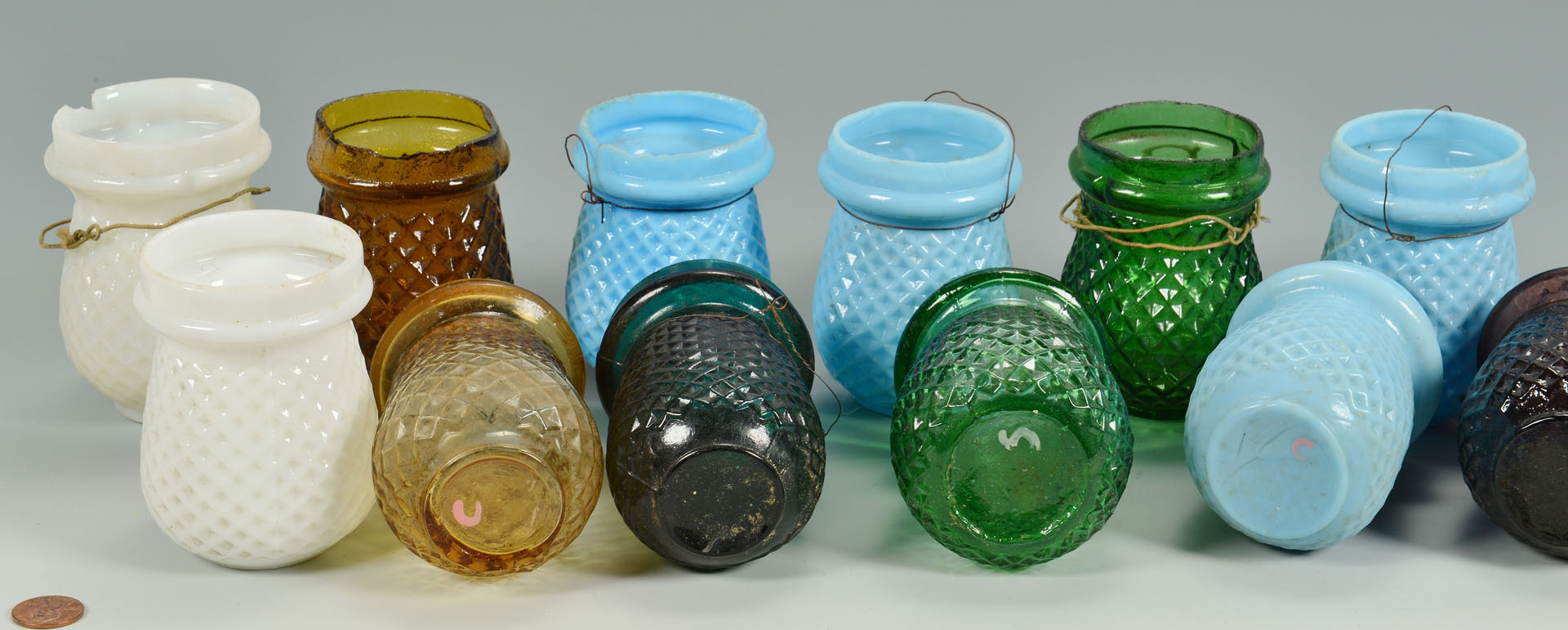 Lot 661: 20 Early Glass Christmas Candle Lights or Lanterns