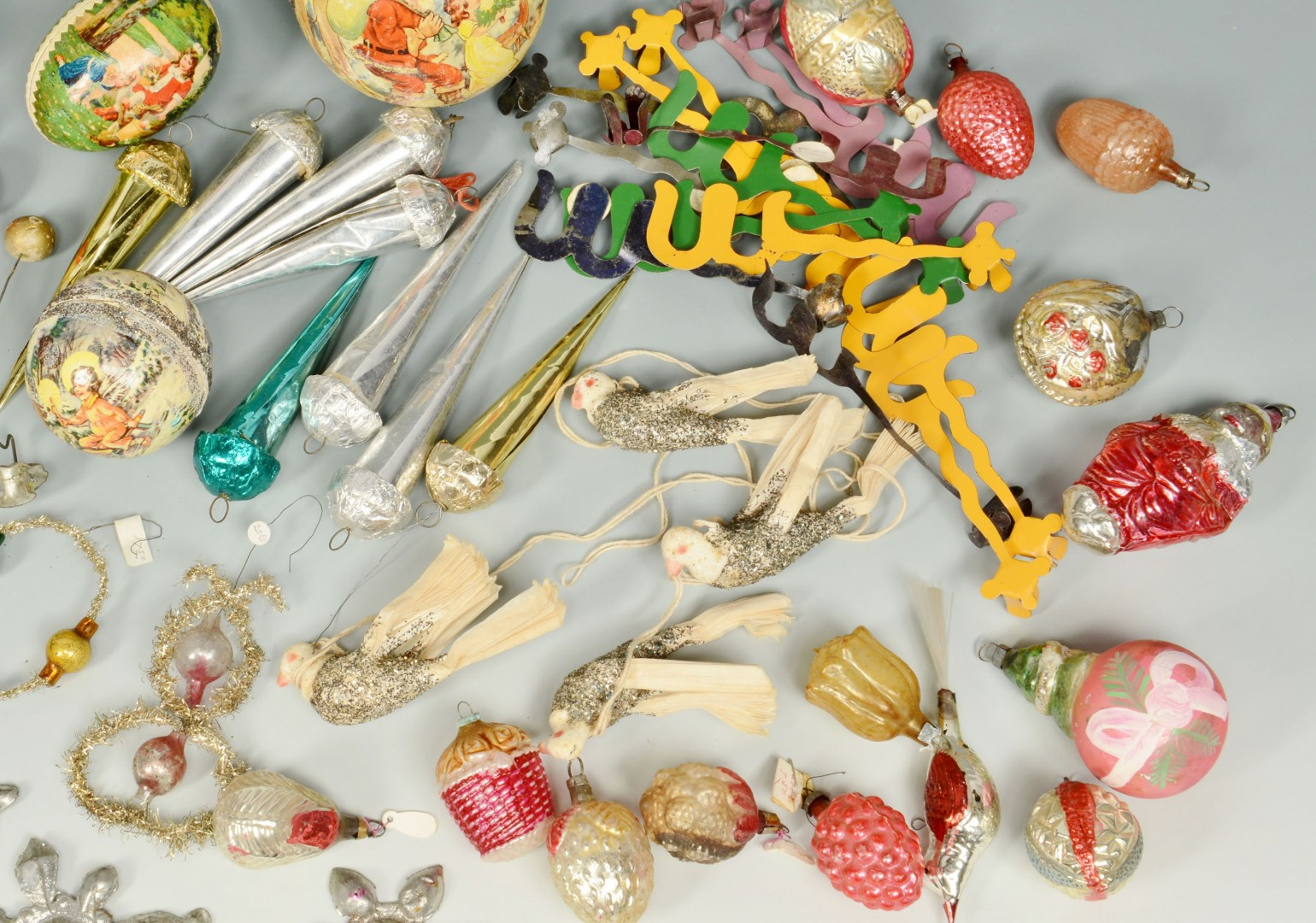 Lot 662: Grouping of 67 Assorted Christmas Decorations