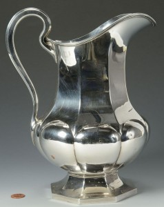 Lot 66: Reed & Barton sterling water pitcher
