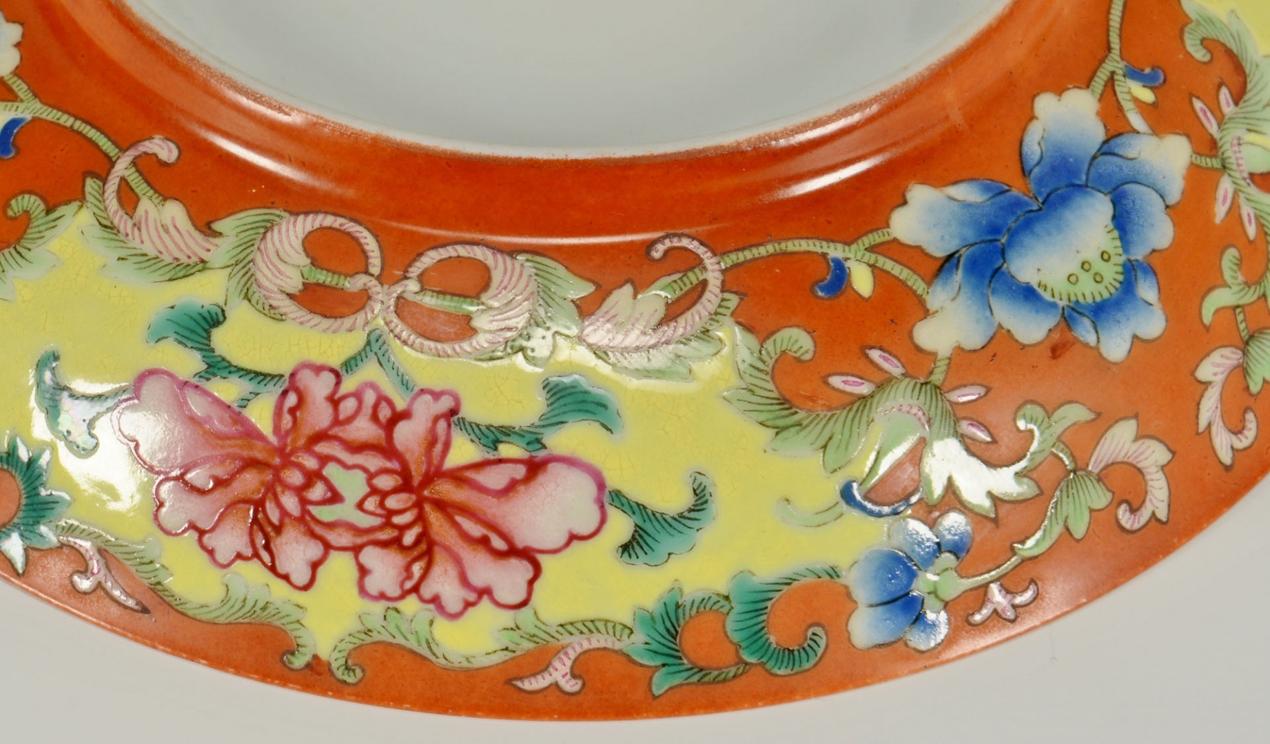 Lot 676: Chinese Famille Rose Saucer Dish