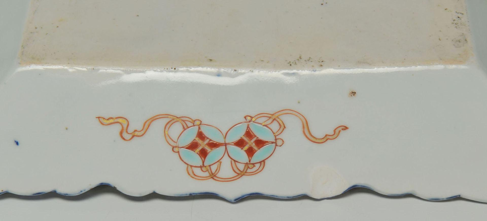 Lot 677: Imari Bowl and Tray