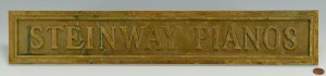 Lot 684: Bronze Steinway Piano Sign