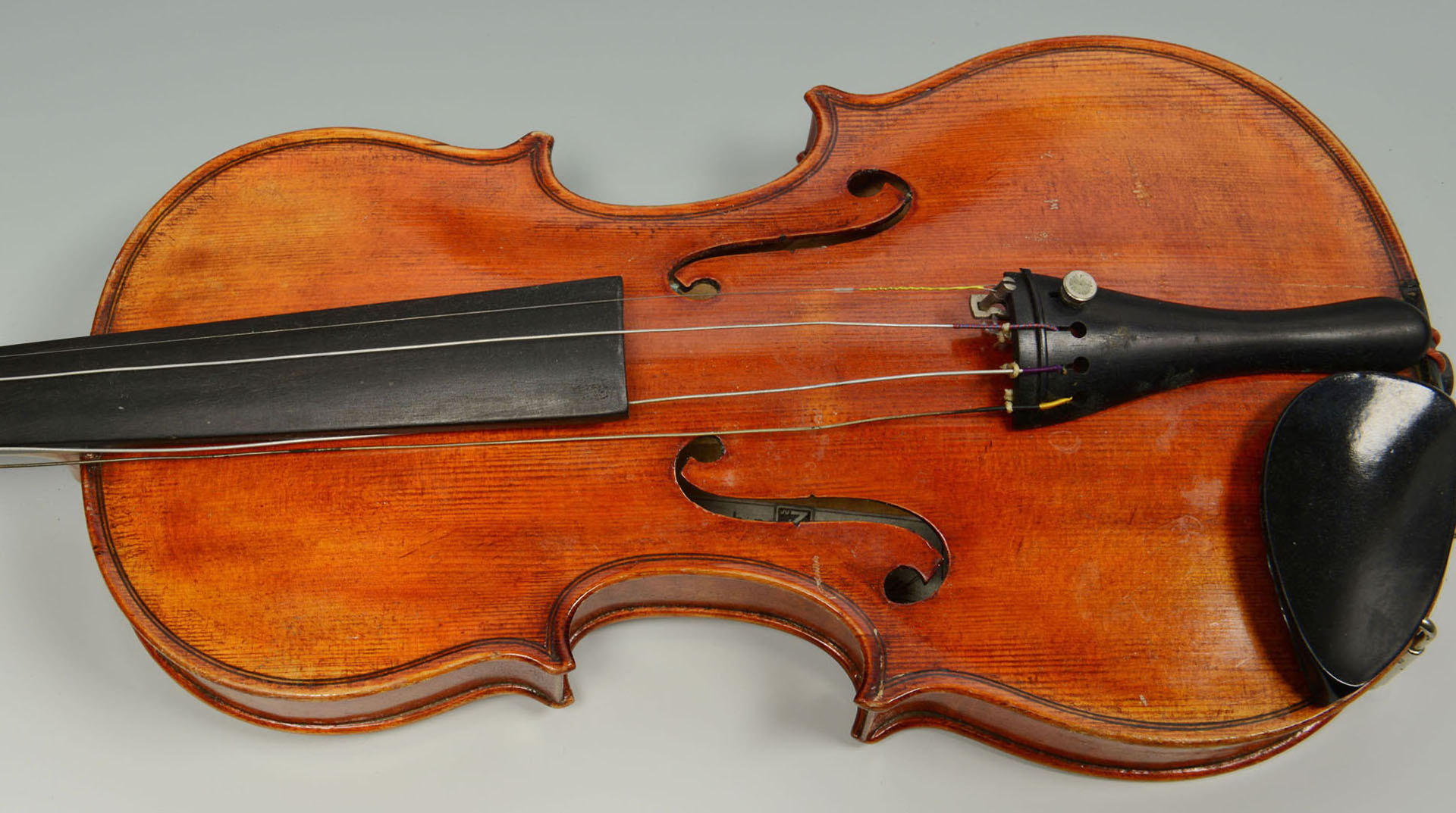 Lot 685: John Juzek labeled violin with bow and case
