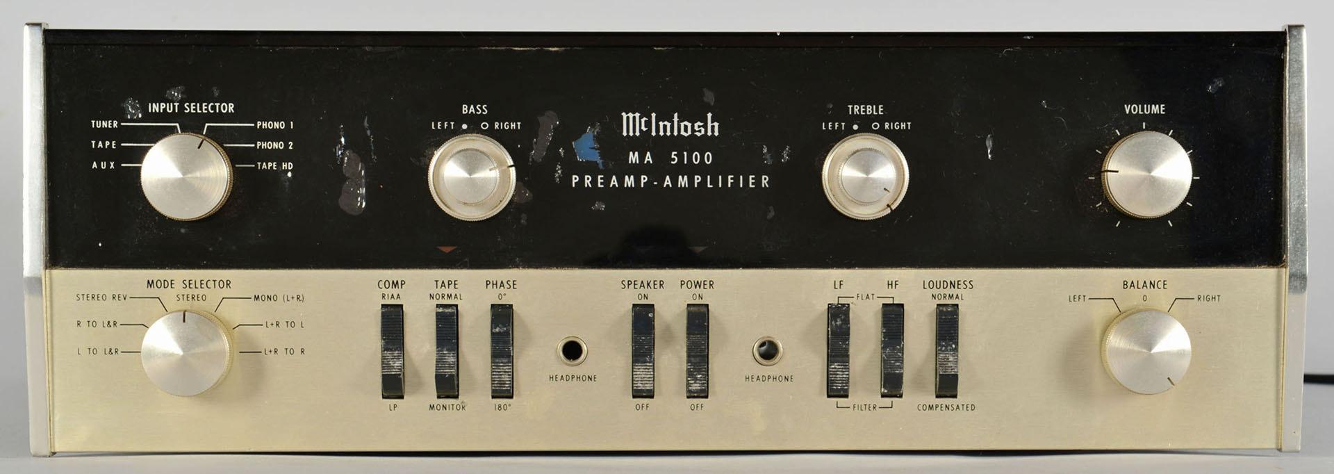 Lot 687: Vintage McIntosh preamplifier