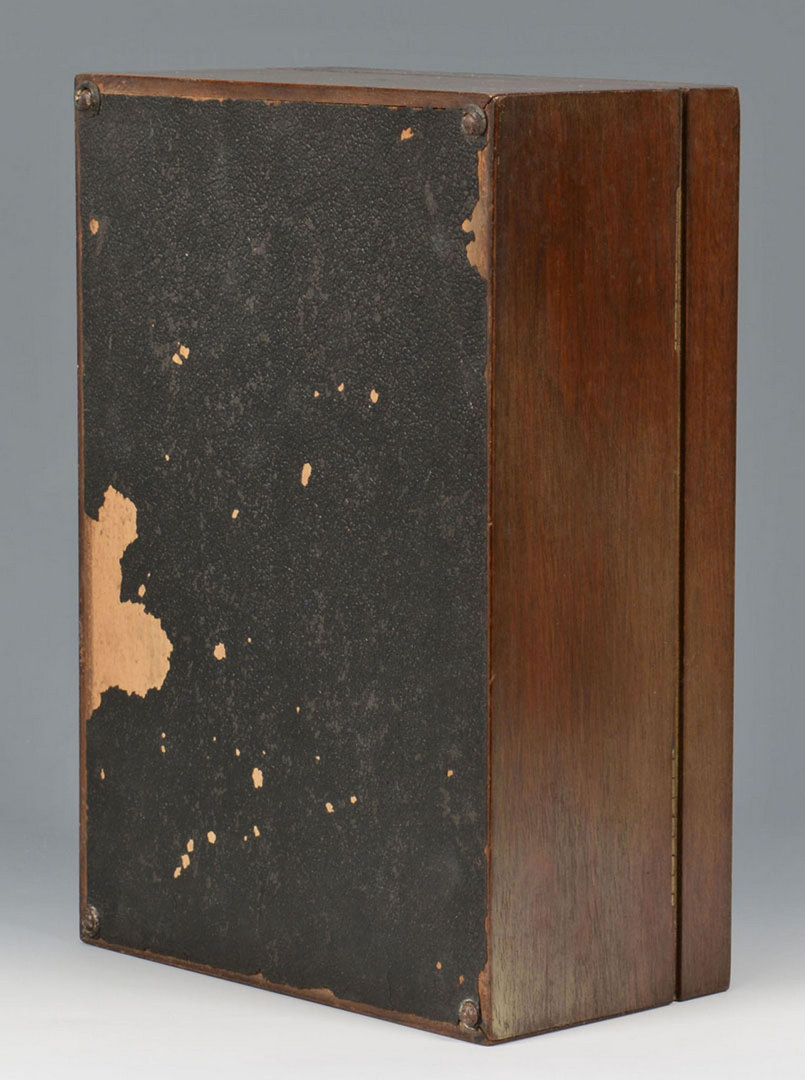 Lot 694: Vintage Walnut Humidor with 54 unopened cigars