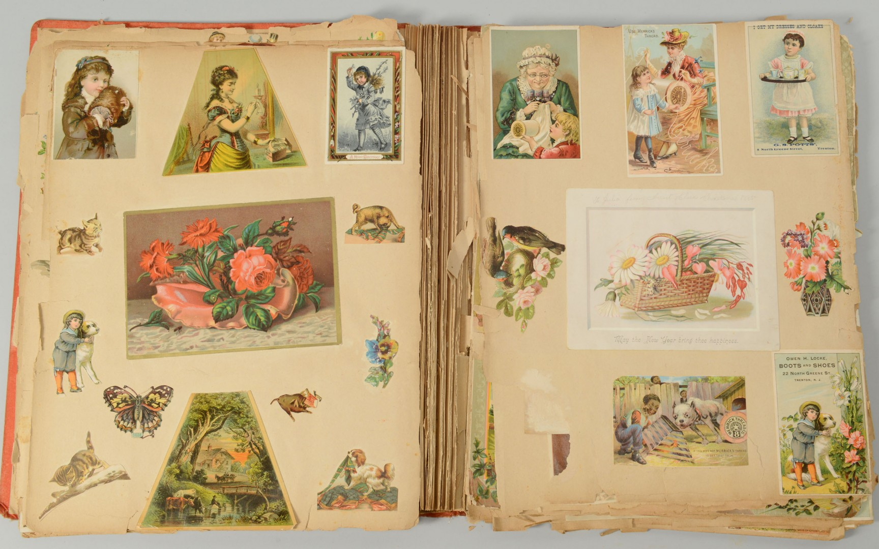 Lot 699: 4 Victorian Scrapbooks/Albums