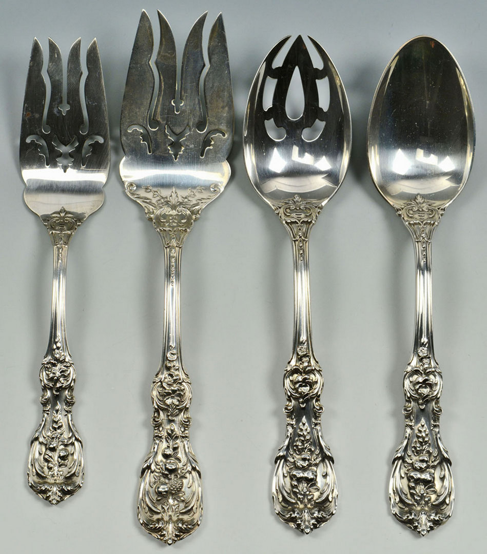 Lot 69: Reed and Barton Francis I Sterling Flatware, 120 p