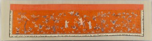 Lot 6: Framed Chinese Silk Embroidery on Red Ground