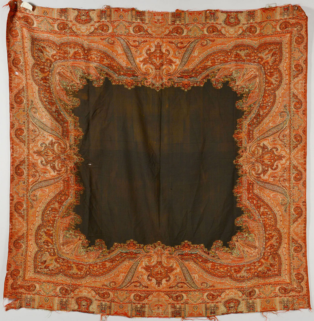 Lot 707: 2 Paisley Indian Camel Hair & Cashmere Shawls