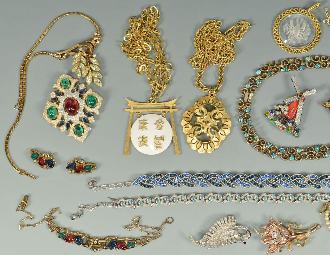Lot 717: Group of Designer Costume Jewelry by Trifari