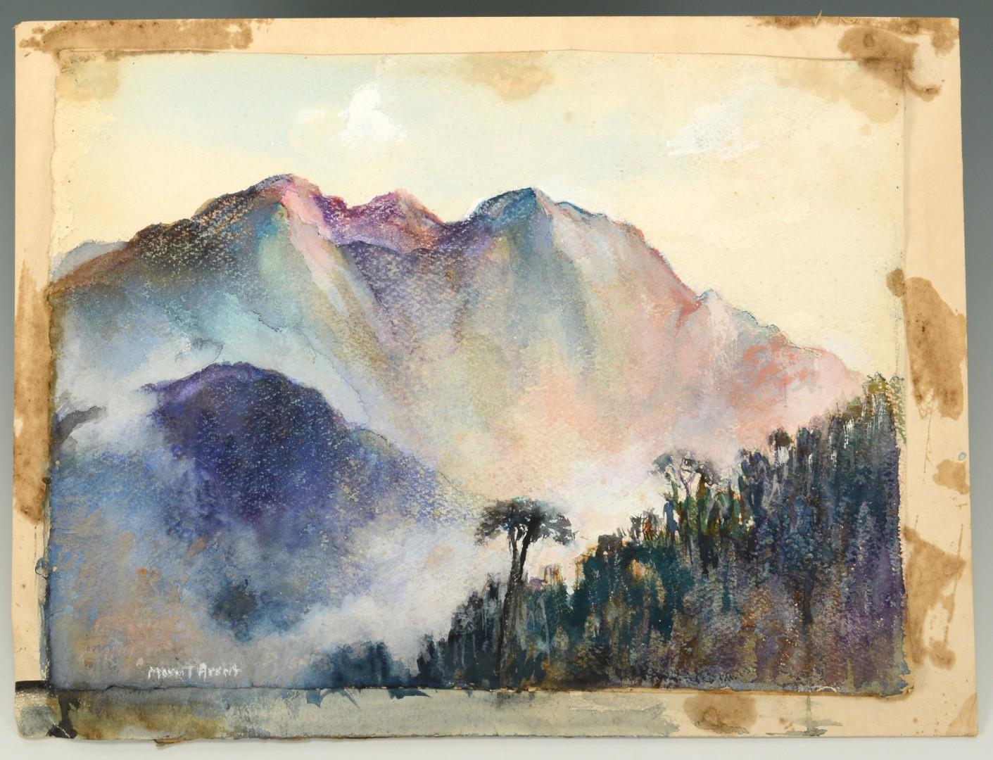 Lot 724: Mayna Treanor Avent Mountainous Watercolor