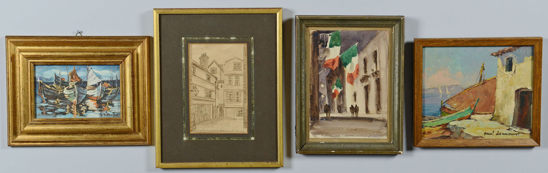 Lot 726: Grouping of 4 Small Works of Art