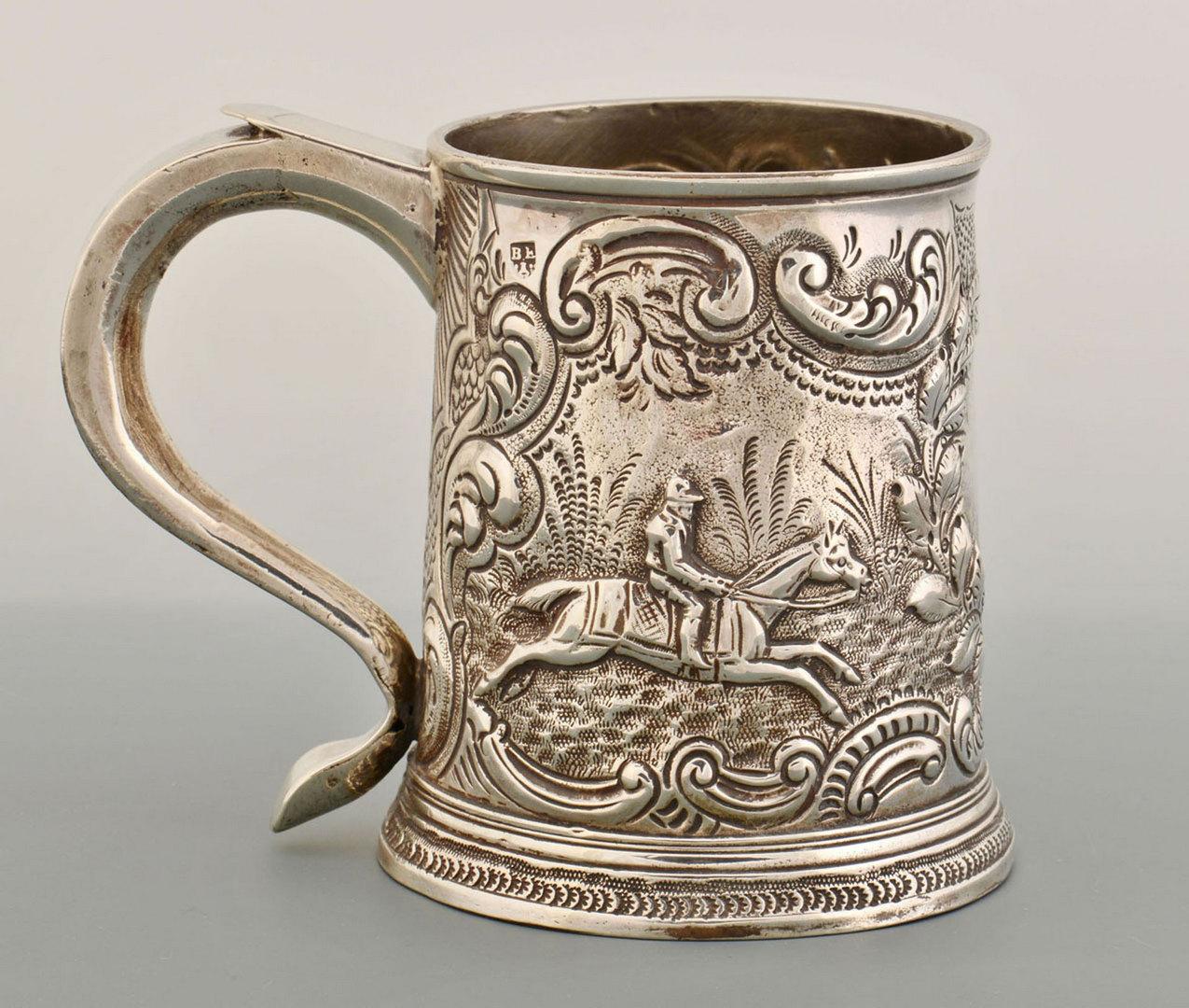 Lot 72: Silver Cann, Equestrian Theme, poss. Hanau