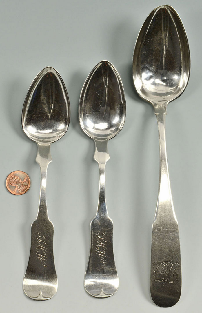 Lot 85: 3 Southern Coin Silver spoons, KY and VA