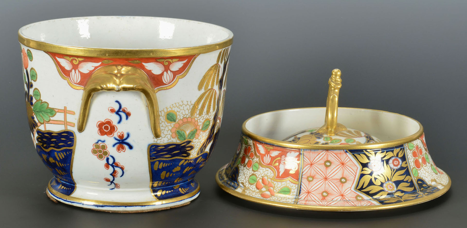 Lot 95: Porcelain Fruit Cooler, poss. Worcester