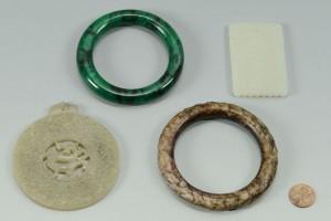 Lot 9: 4 Chinese Jade Jewelry items