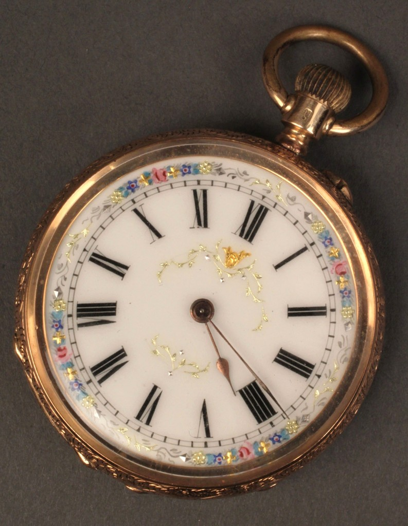 Lot 110: 14K Gold Cuivre Pocket Watch