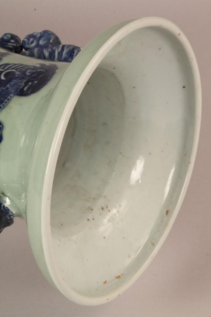 Lot 115: Chinese Temple Vase w/ foo dog & dragon decoration