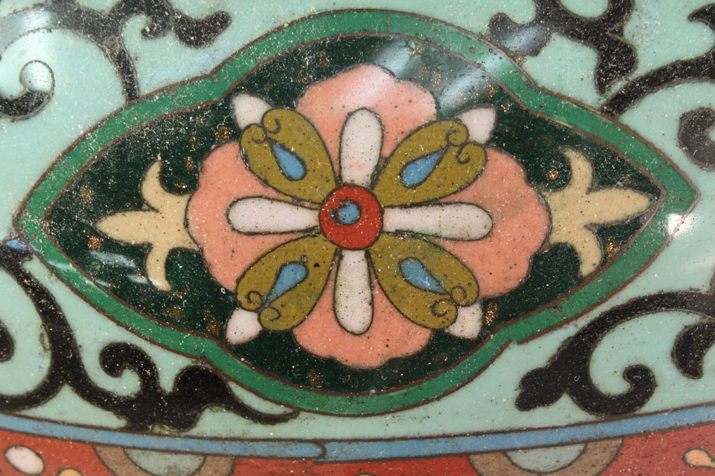 Lot 123: Pair of Chinese Cloisonne Jardinieres