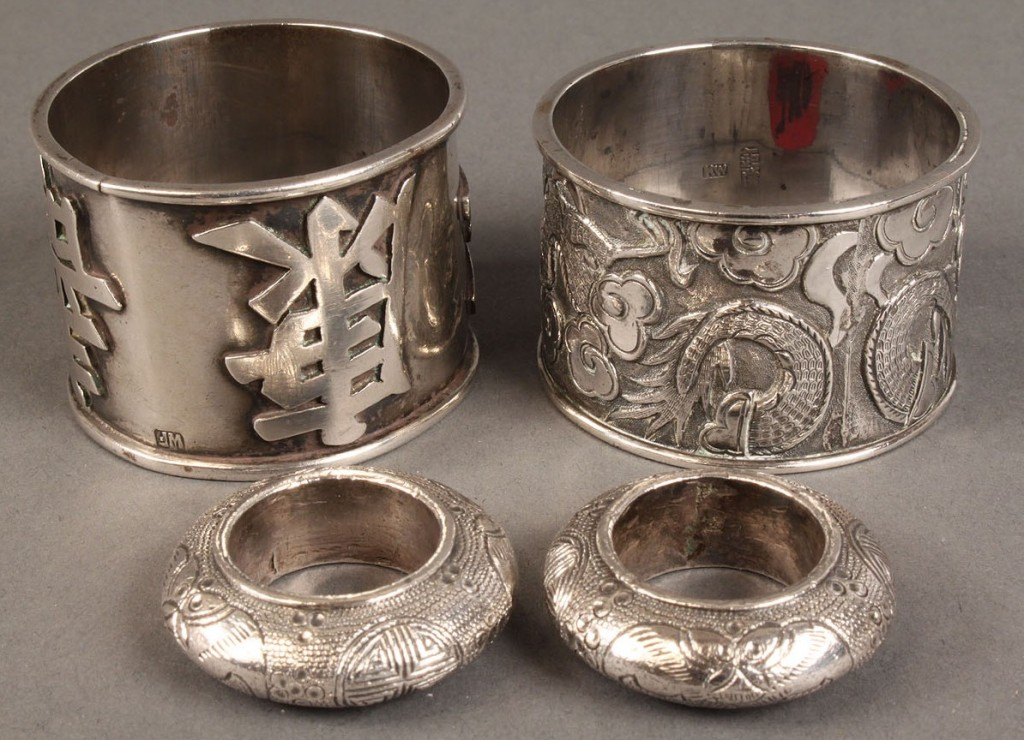 Lot 126: Assembled Lot of Asian Silver, 12 pieces