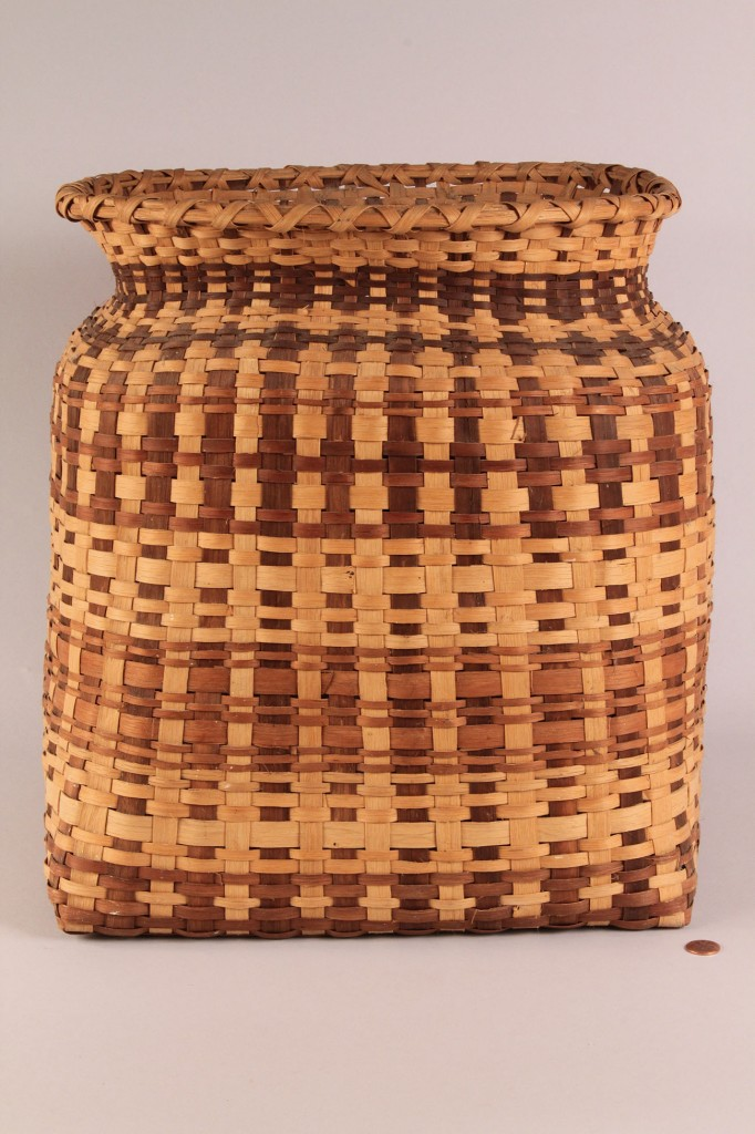 "Lot 12: Large Cherokee Waste Basket, 16"" Height"