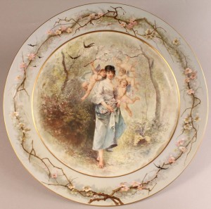 Lot 131: Large Decorated Sevres Porcelain Charger