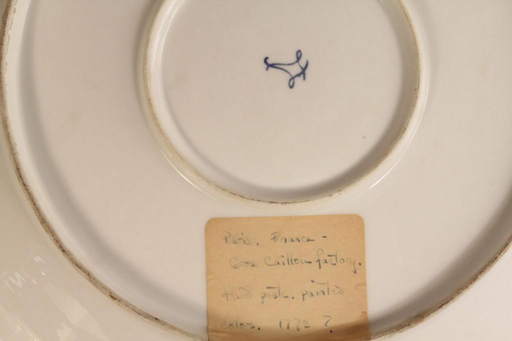 Lot 131: Large Decorated Sevres Porcelain Charger