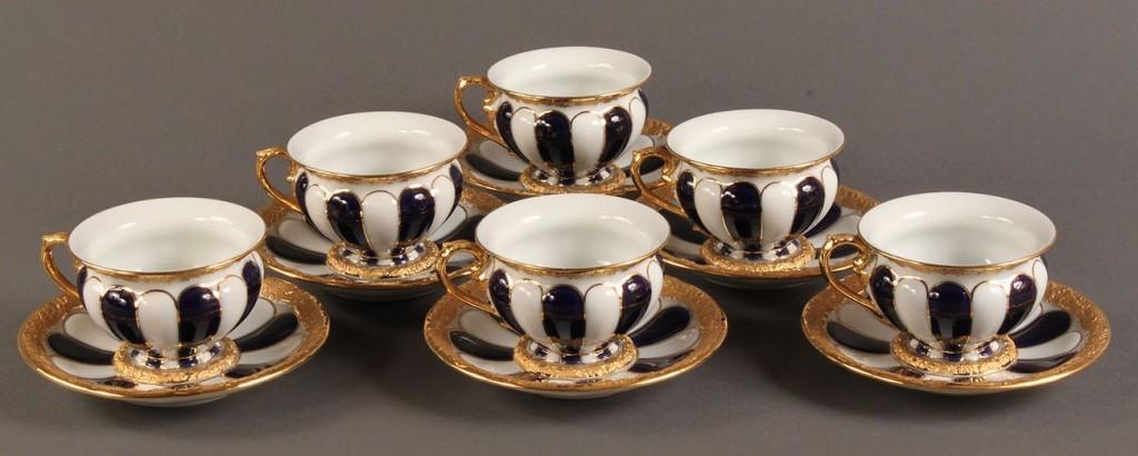 Lot 137: Meissen Demitasse cup and saucer set