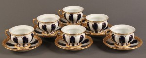 Lot 137: Meissen Demitasse cup and saucer set