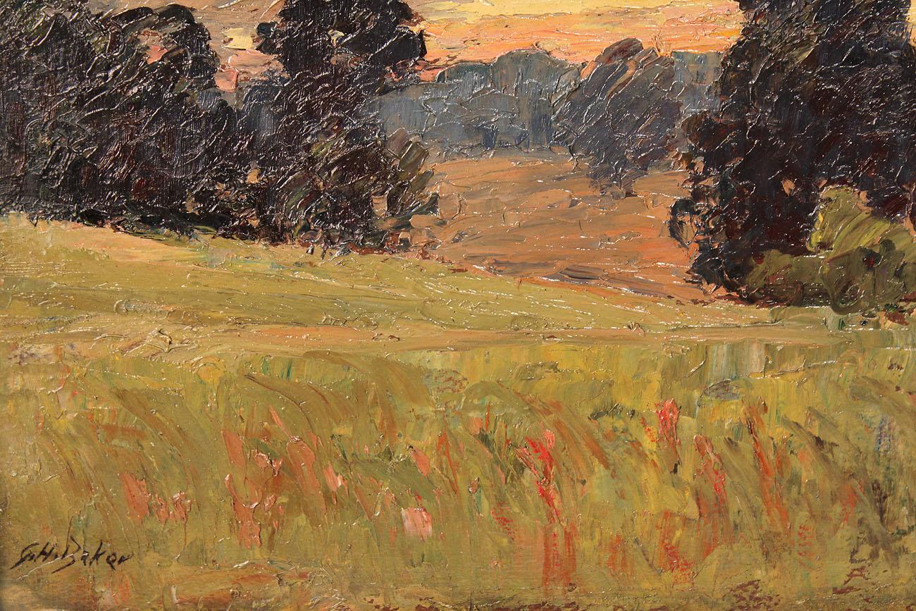 Lot 147 George H Baker Indiana Landscape 2 Sided