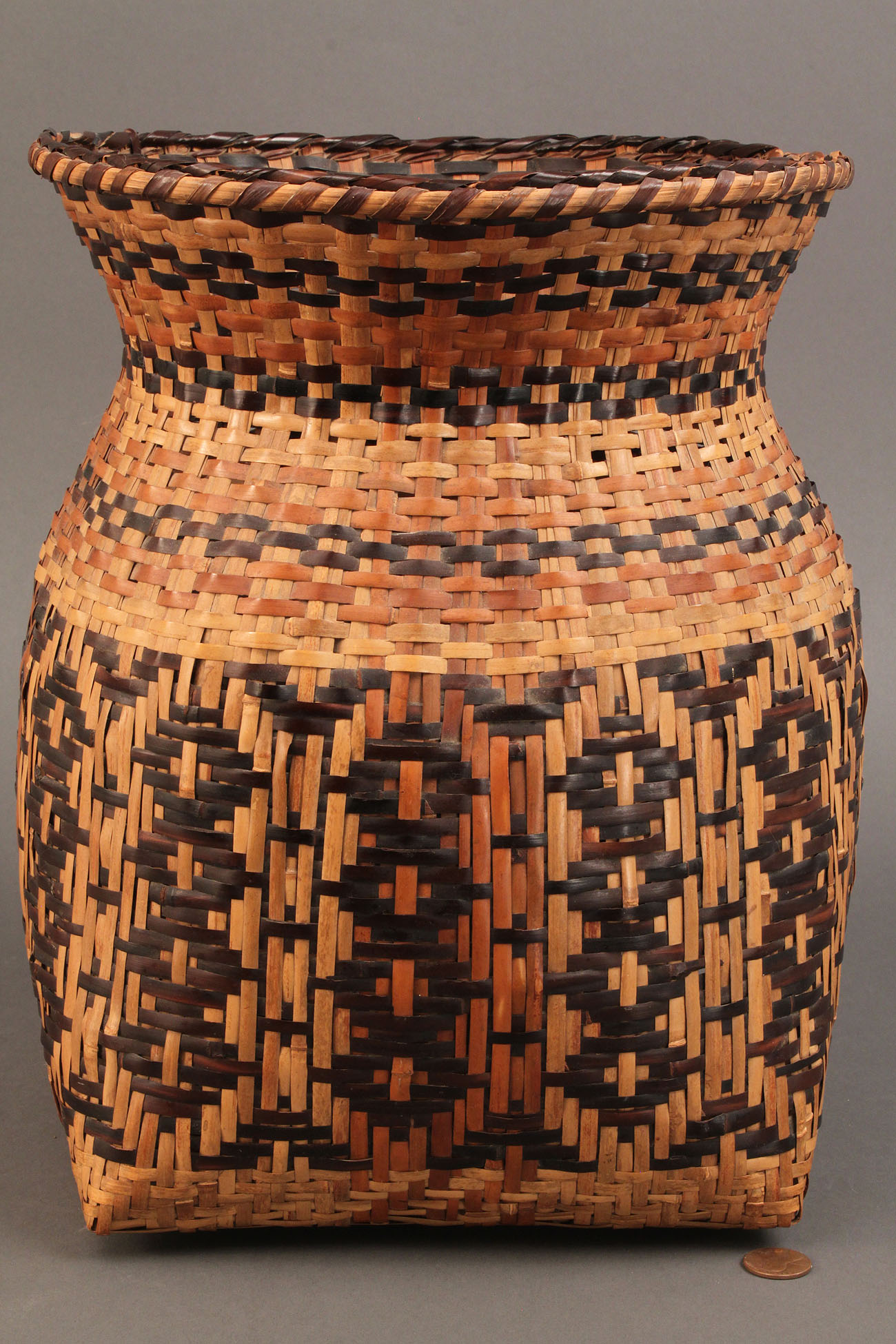 Basket Weaving North Carolina : Lot cherokee rivercane storage basket quot height