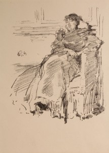 "Lot 152: Whistler Lithograph, ""La Robe Rouge"""