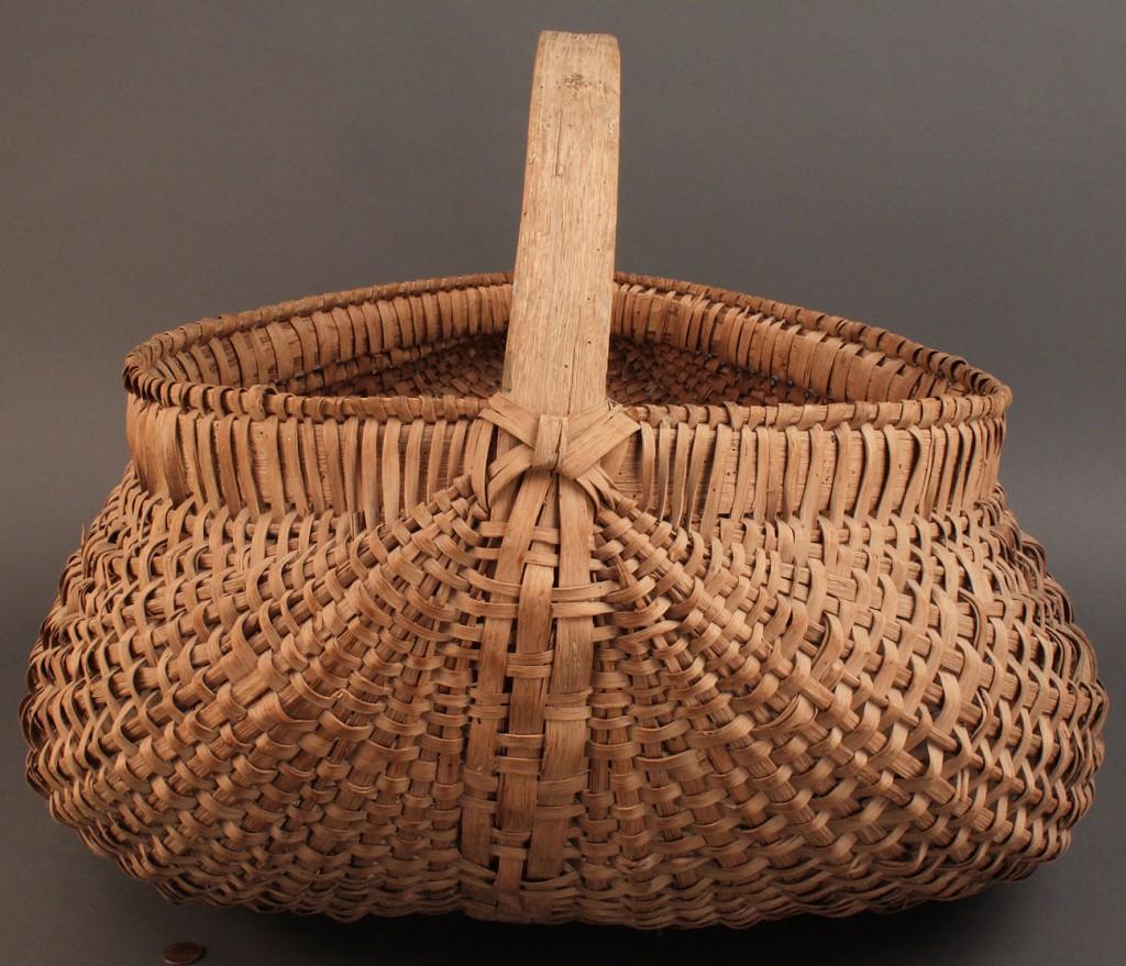 Basket Weaving North Carolina : Lot large splint oak buttocks basket nc or tn