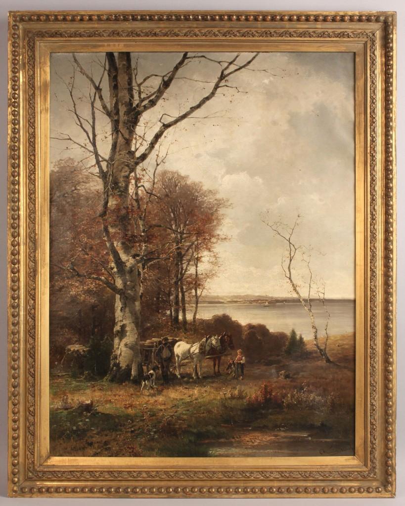 Lot 160: Conrad Wimmer landscape oil on canvas