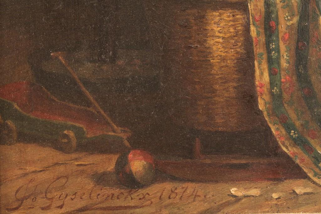 Lot 163: J. Gyselinckx oil on panel, The Jumping Jack