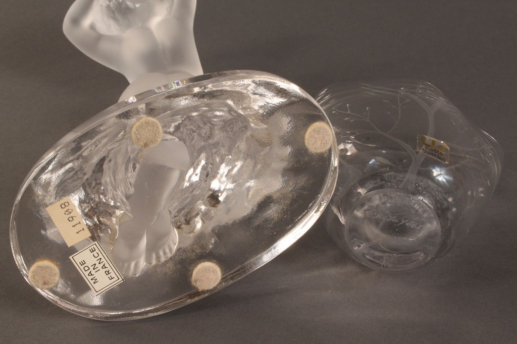 Lot 166: Lot of 2 Crystal Items, Lalique & Kosta